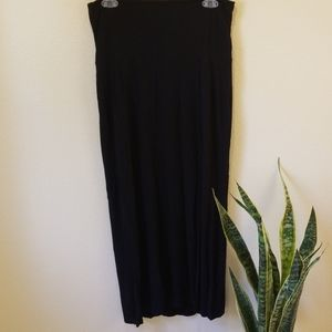 Black Maternity Maxi Skirt - Soft and Comfy!